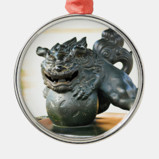 Japanese architecture Silver-Colored round decoration