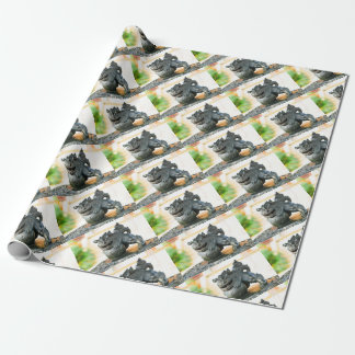 Japanese architecture wrapping paper
