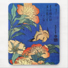 Japanese Art Birds and Flowers Mouse Mat
