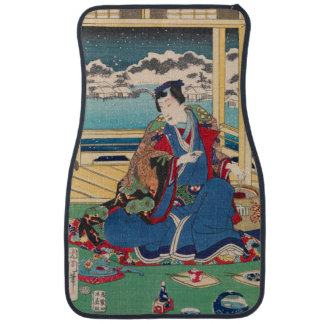 Japanese Art car floor mats
