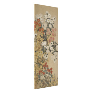 "Japanese Art ""Chrysanthemums"" canvas print"