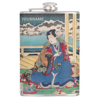 Japanese Art custom flask