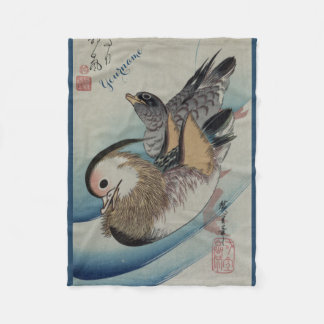 Japanese Art custom fleece blanket