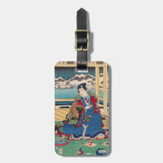 Japanese Art custom luggage tag