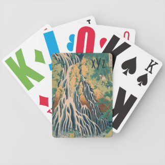 Japanese Art custom monogram playing cards