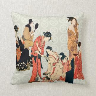 Japanese Art Design Throw Pillows Cushions