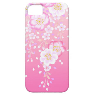 Japanese Art Flowers Pink Mauve White Barely There iPhone 5 Case