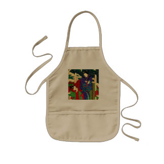 Japanese Art - Painting Of Two Women In The Snow Kids Apron