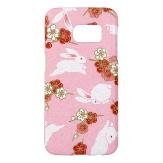 Japanese Art: Pink Sakuras & Rabbits Samsung S7