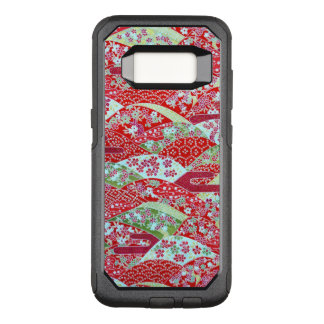 Japanese Art Red Floral Origami Yuzen S8 Case