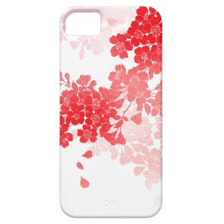 Japanese Art Red & Pink Flowers floral Barely There iPhone 5 Case