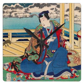 Japanese Art wall clock