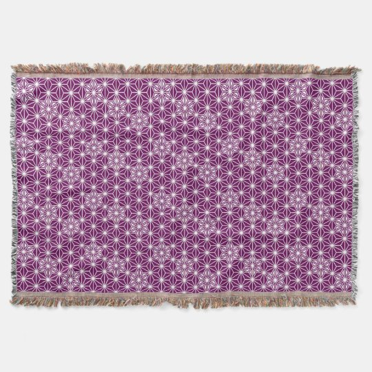 Japanese Asanoha Pattern Eggplant Purple Throw Blanket Zazzlecouk Extraordinary Eggplant Throw Blanket