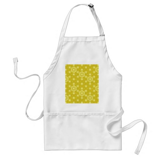 Japanese Asanoha pattern - mustard gold Aprons