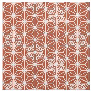 Japanese Asanoha pattern - terracotta Fabric