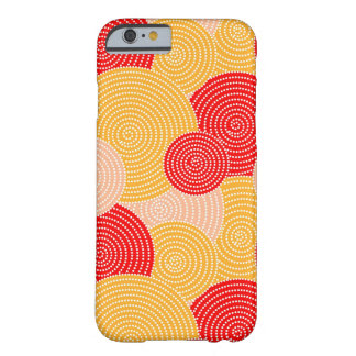 Japanese autumn circle dots kimono barely there iPhone 6 case