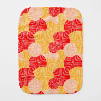 Japanese autumn circle dots kimono burp cloth
