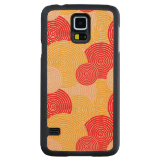 Japanese autumn circle dots kimono carved maple galaxy s5 case
