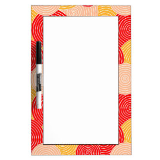 Japanese autumn circle dots kimono dry erase boards