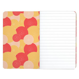 Japanese autumn circle dots kimono journal