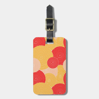 Japanese autumn circle dots kimono luggage tag