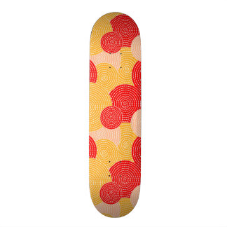 Japanese autumn circle dots kimono skate board deck