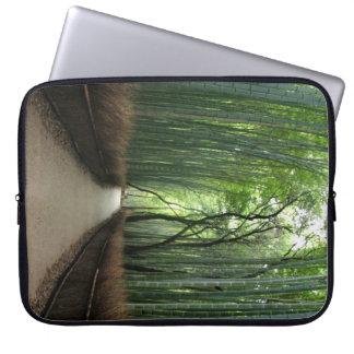 "Japanese Bamboo Laptop Sleeve 15"""