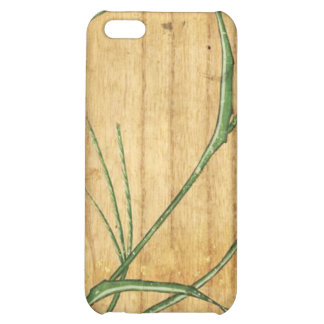 Japanese Bamboo on Wood Case For iPhone 5C