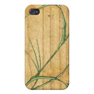 Japanese Bamboo on Wood iPhone 4 Case