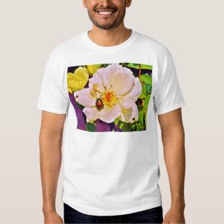Japanese Beetle on White  Rose Shirt