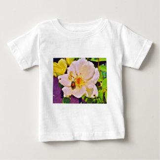 Japanese Beetle on White  Rose T-shirt