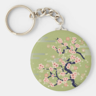 JAPANESE Blossom Basic Round Button Key Ring