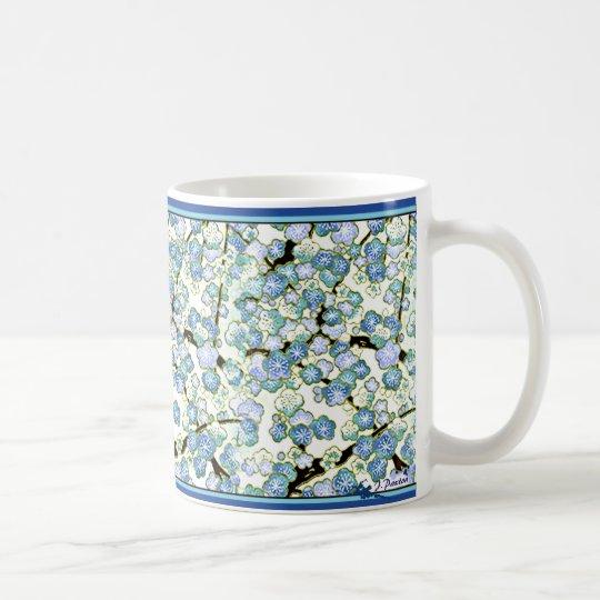 Japanese Blue Blossums - 11 oz Coffee Mug