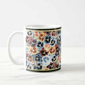 Japanese Blue Pansies - 11 oz Coffee Mug