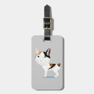 Japanese Bobtail Caricature Luggage Tag