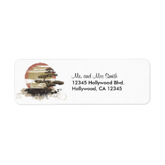 Japanese Bonsai Return Address Label