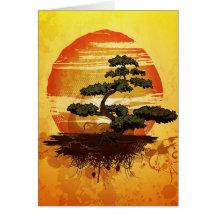 Japanese Bonsai Tree Sunset