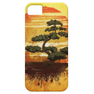 Japanese Bonsai Tree Sunset Barely There iPhone 5 Case
