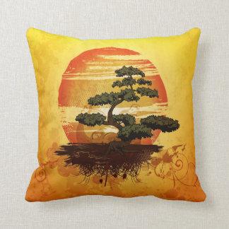 Japanese Bonsai Tree Sunset Cushions