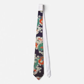 Japanese Botanical pattern tie