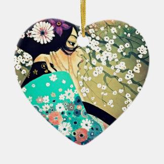 Japanese Breeze Ceramic Heart Decoration