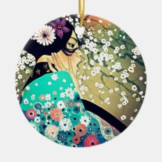 Japanese Breeze Round Ceramic Decoration