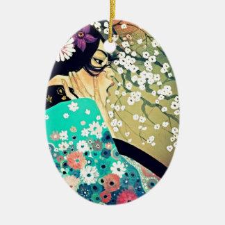 Japanese Breeze Ceramic Oval Decoration
