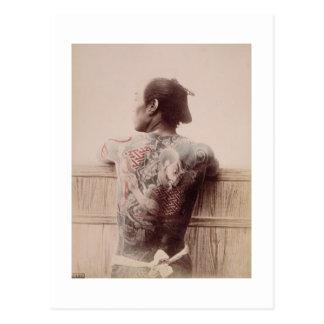Japanese Bridegroom s Tattoos c 1880 photo Postcards
