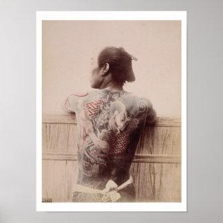Japanese Bridegroom s Tattoos c 1880 photo Print