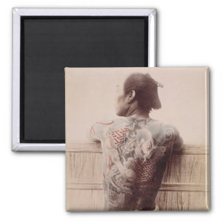 Japanese Bridegroom's Tattoos, c.1880 (photo) Magnet