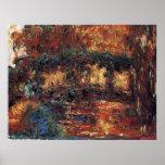 Japanese Bridge by Claude Monet, Vintage Fine Art Poster