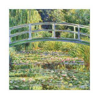 Japanese Bridge Claude Monet Fine Art Stretched Canvas Prints