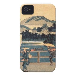 Japanese Bridge Crossing Vintage Woodblock Art Case-Mate iPhone 4 Cases