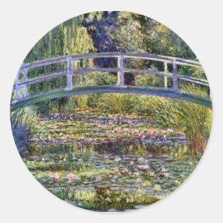 Japanese Bridge Monet Fine Art Classic Round Sticker